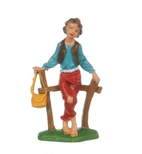 Shepherd (118) for creche traditional colours 10 cm.