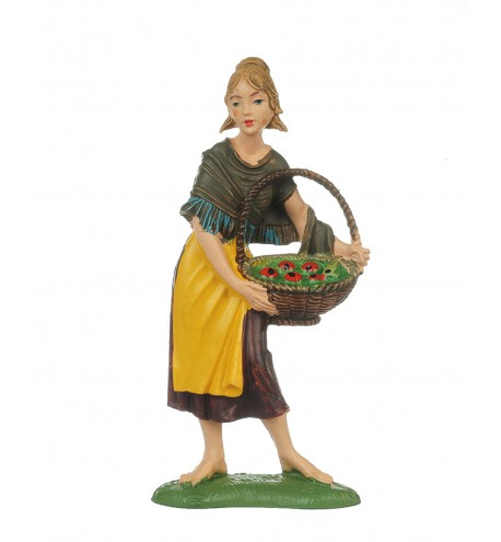 Shepherdess (140) for creche traditional colours 10 cm.