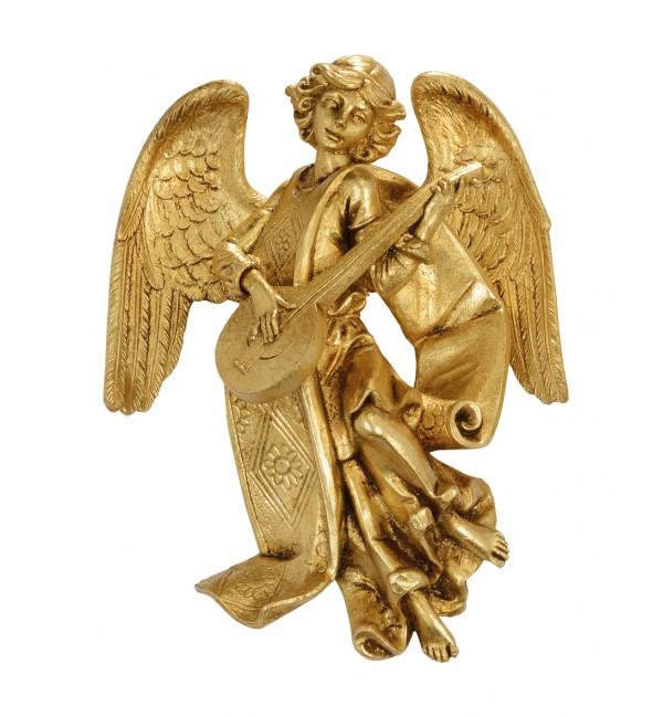 Angel with mandolin (470) gold leaf 17 cm.