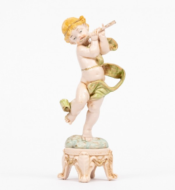 Angel with flute (61) porcelain type 16 cm.