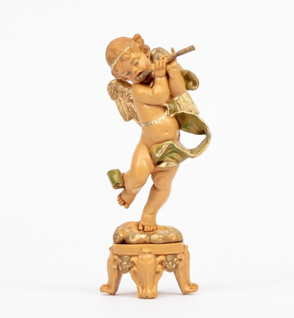 Angel with flute (61) 16 cm.