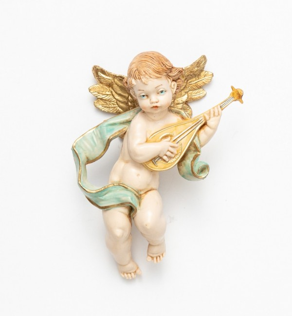 Angel with mandolin (65) porcelain type 11 cm.