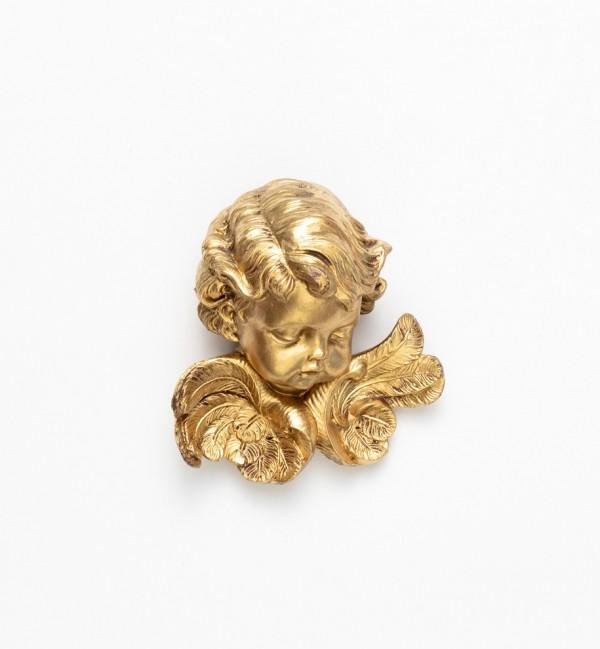 Angel head (67) golden type 11 cm.