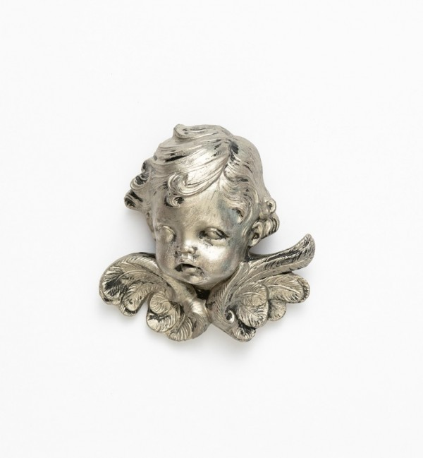 Angel head (68) silver type 11 cm.