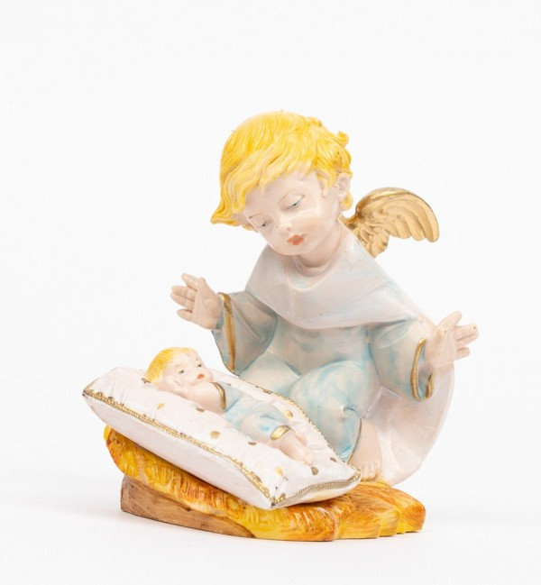 Blue angel with pillow (138GC) porcelain type 10,5 cm.