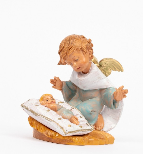 Blue angel with pillow (138GC) 10,5 cm.