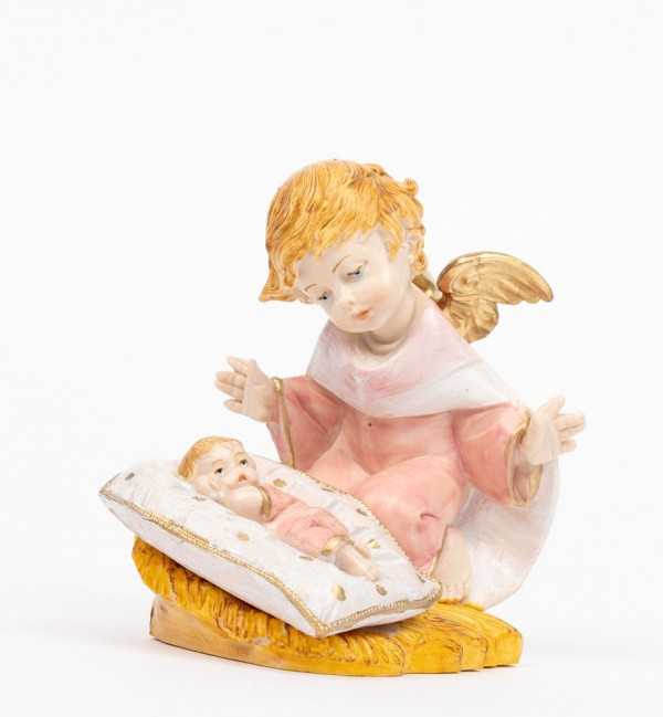 Pink angel with pillow (138GR) porcelain type 10,5 cm.