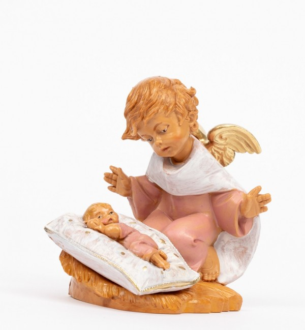 Pink angel with pillow (138GR) 10,5 cm.