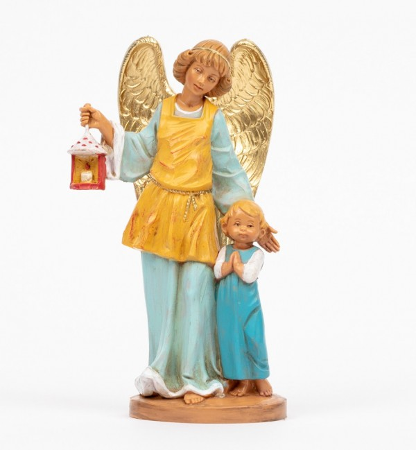 Guardian Angel with boy (174C) 17 cm.