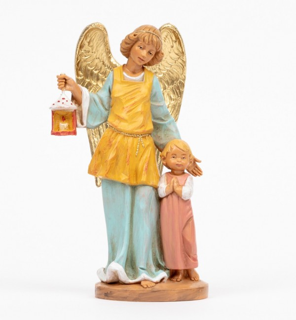 Guardian angel with girl (174R) 17 cm.