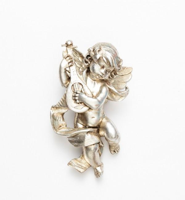 Angel with mandolin (365) silver leaf 22 cm.