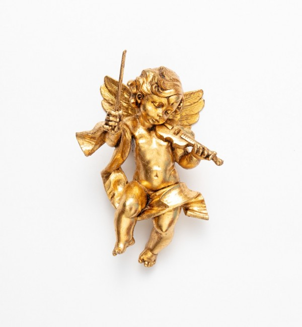 Angel with violin (366) gold leaf 22 cm.