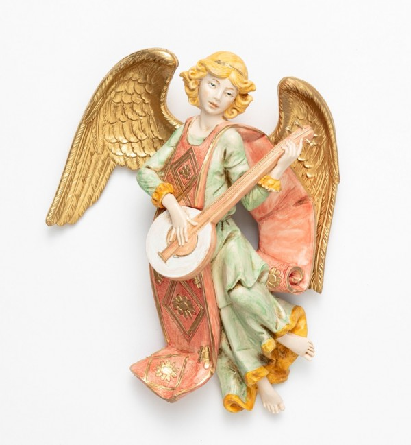 Angel with mandolin (367) porcelain type 21 cm.