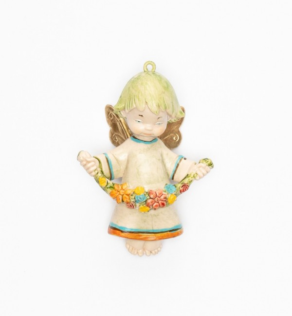 Angel with flowers (381) porcelain type 9 cm.