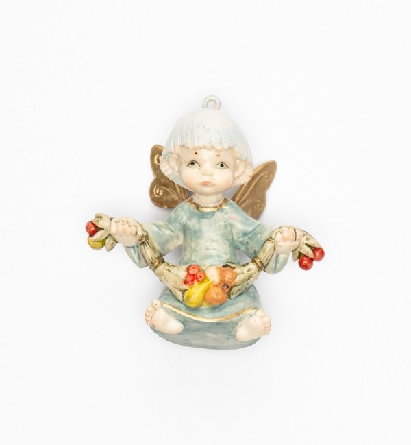 Angel with fruit (382) porcelain type 9 cm.