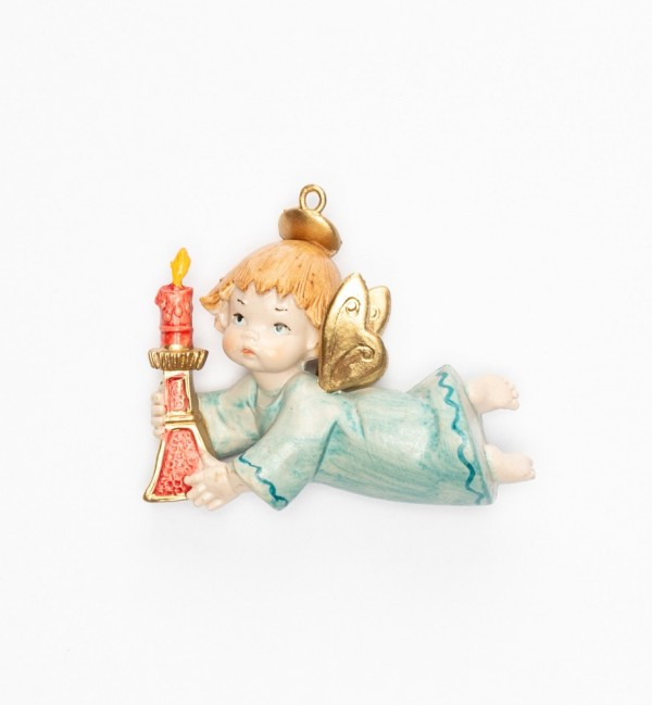 Angel with candle (383) porcelain type 9 cm.