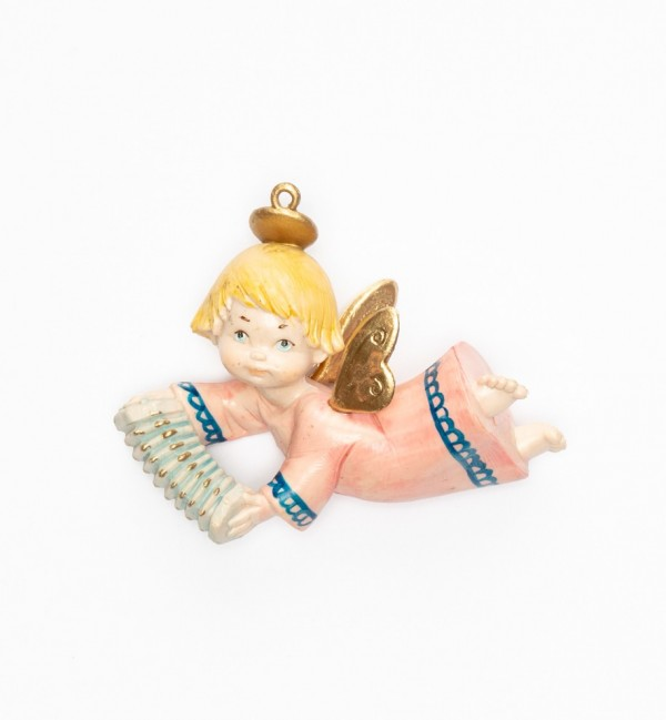 Angel with accordion (385) porcelain type 9 cm.