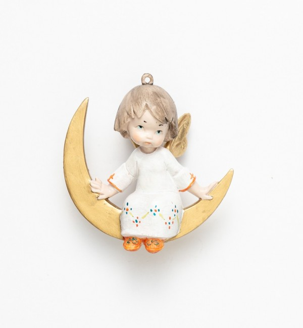 Angel sitting on the moon (388) porcelain type 12 cm.