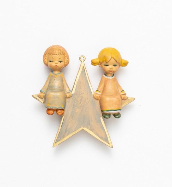 Angel on a star (389) 12 cm.