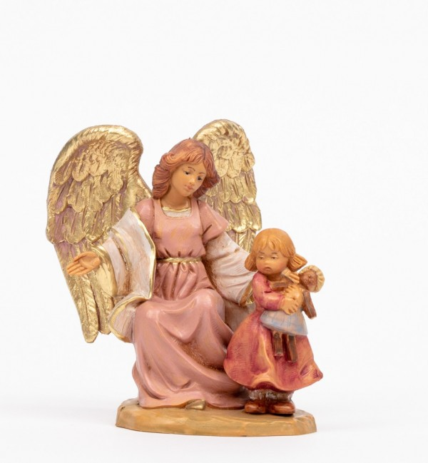 Angel with girl (394) 10 cm.