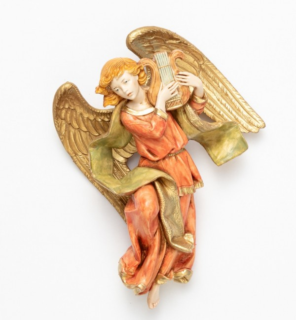 Angel with lyre (468) porcelain type 17 cm.