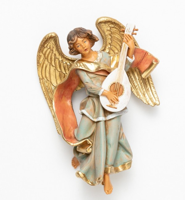 Angel with mandolin (470) 17 cm.