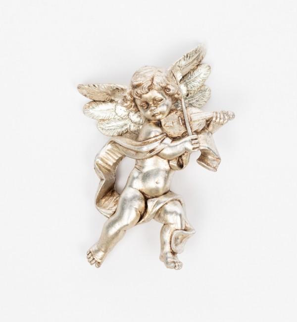 Angel with violin (566) silver leaf 17 cm.