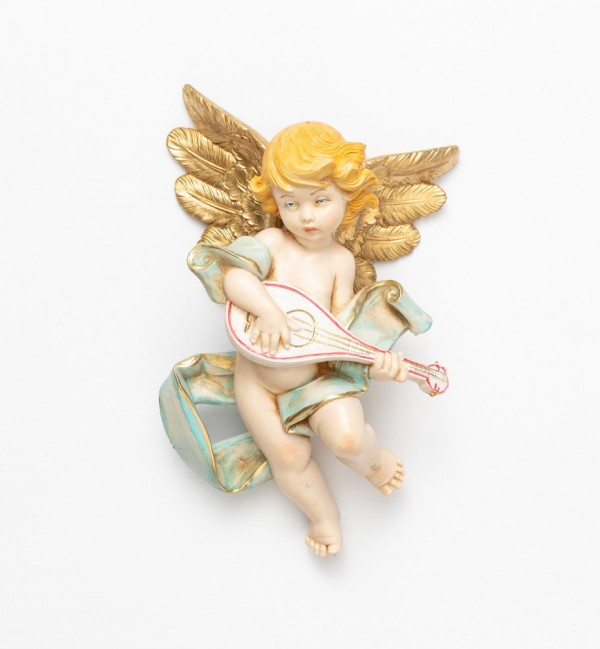 Angel with mandolin (567) porcelain type 17 cm.