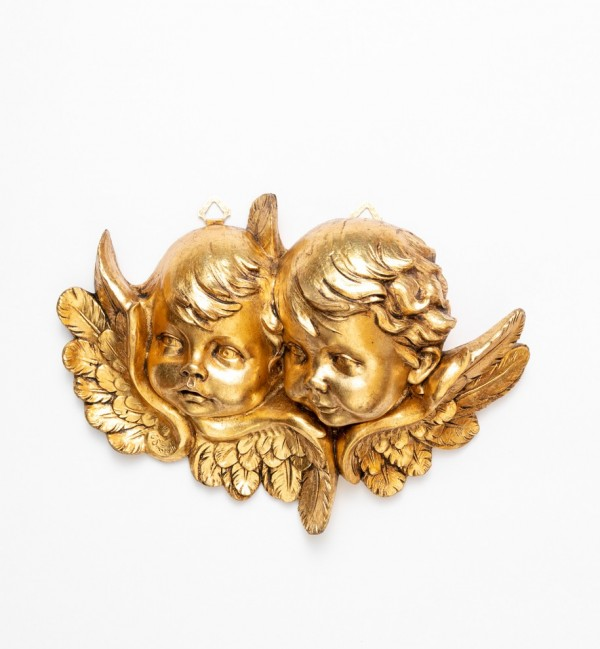 Angel heads (678) gold leaf 25x35 cm.
