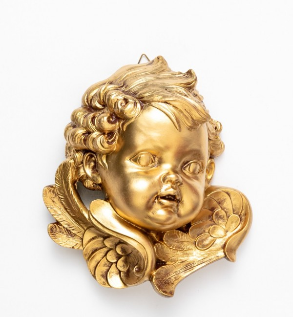 Left angel head (679) golden type 19 cm.