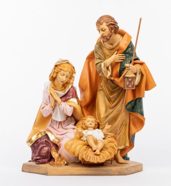 Holy family in resin (693) 65 cm.