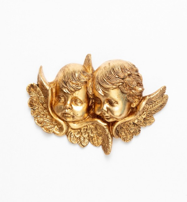 Angel heads (877) gold leaf 12x17 cm.