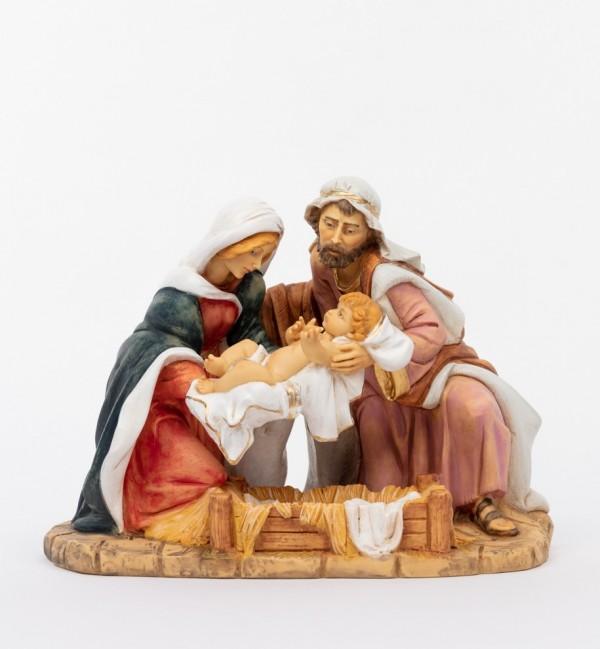 Holy family in resin (893) 36 cm.