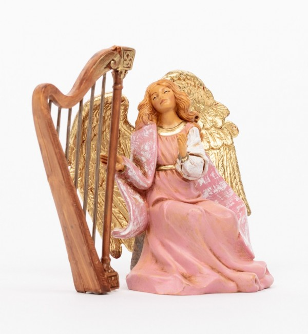 Angel with harp (1086) 11 cm.