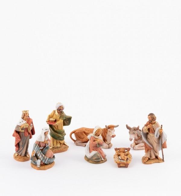 8 pieces Nativity set for creche 9,5 cm.