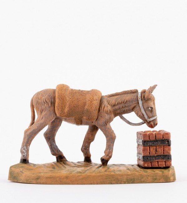 Standing donkey (907) for creche 9,5 cm.