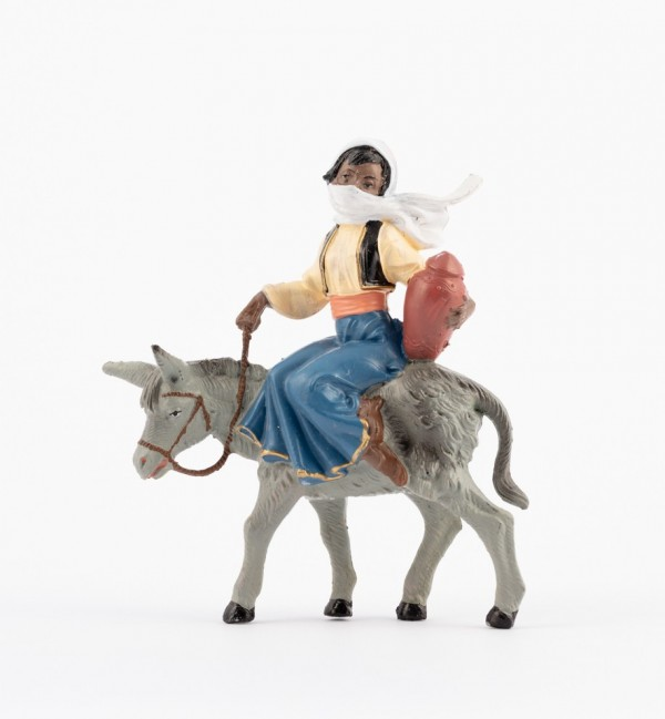 Shepherdess (240B) for creche traditional colours 10 cm.