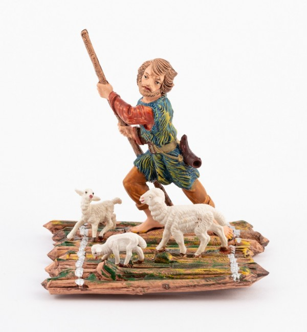 Shepherd (285) for creche traditional colours 10 cm.