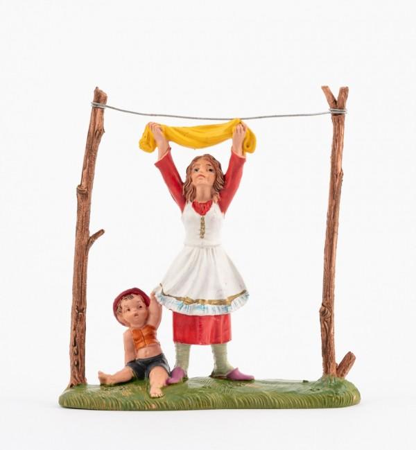 Shepherdess (291) for creche traditional colours 10 cm.