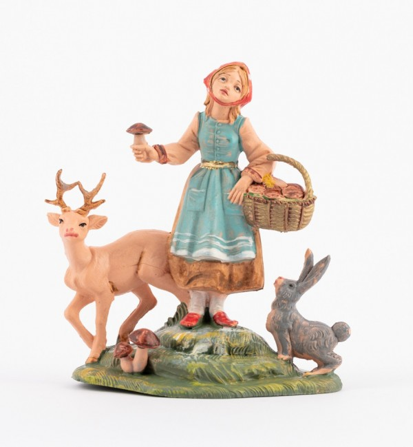Shepherdess (294) for creche traditional colours 10 cm.