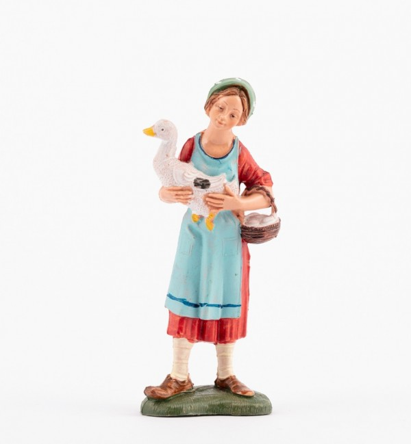 Shepherdess (110) for creche traditional colours 10 cm.