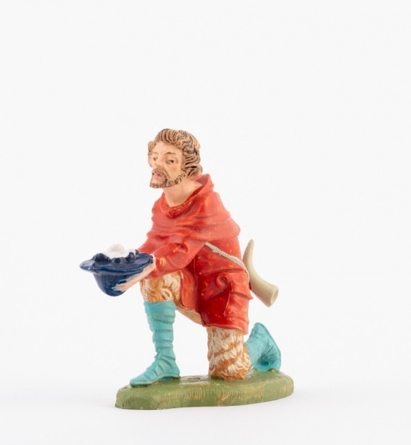 Shepherd (136) for creche traditional colours 10 cm.