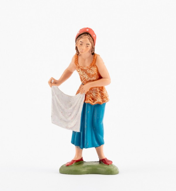 Shepherdess (138) for creche traditional colours 10 cm.