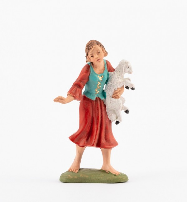 Shepherdess (139) for creche traditional colours 10 cm.