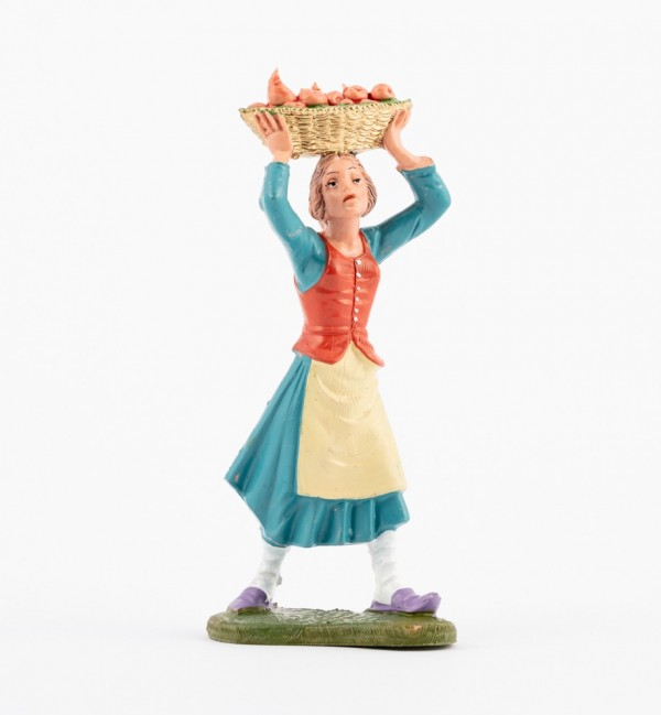 Shepherdess (142) for creche traditional colours 10 cm.