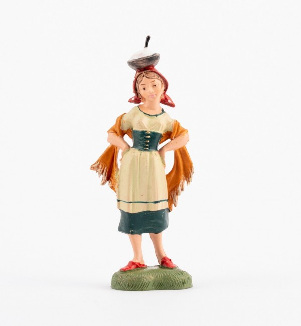 Shepherdess (182) for creche traditional colours 10 cm.