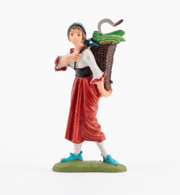 Shepherdess (193) for creche traditional colours 10 cm.