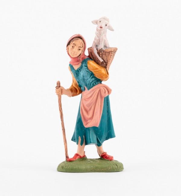 Shepherdess (197) for creche traditional colours 10 cm.