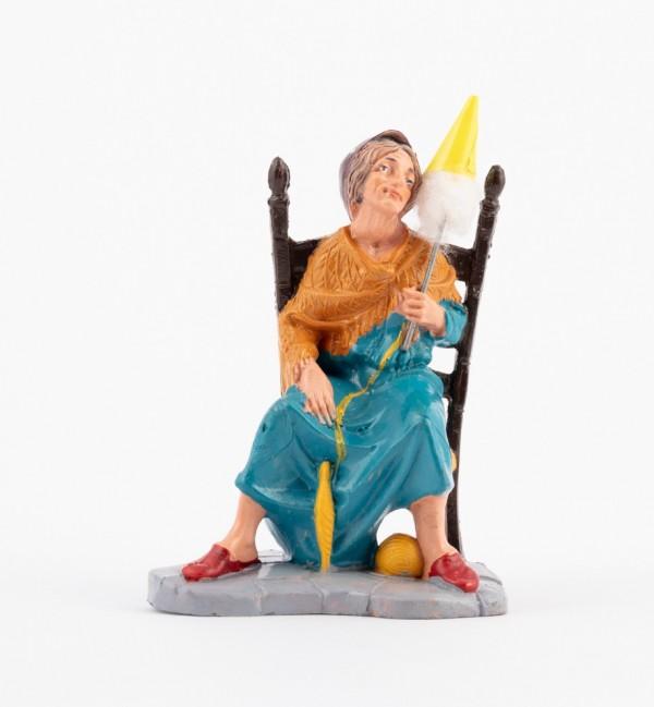 Shepherdess (206) for creche traditional colours 10 cm.