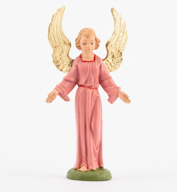 Standing angel for creche traditional colours 10 cm.
